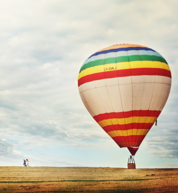Getting married in a hot air balloon