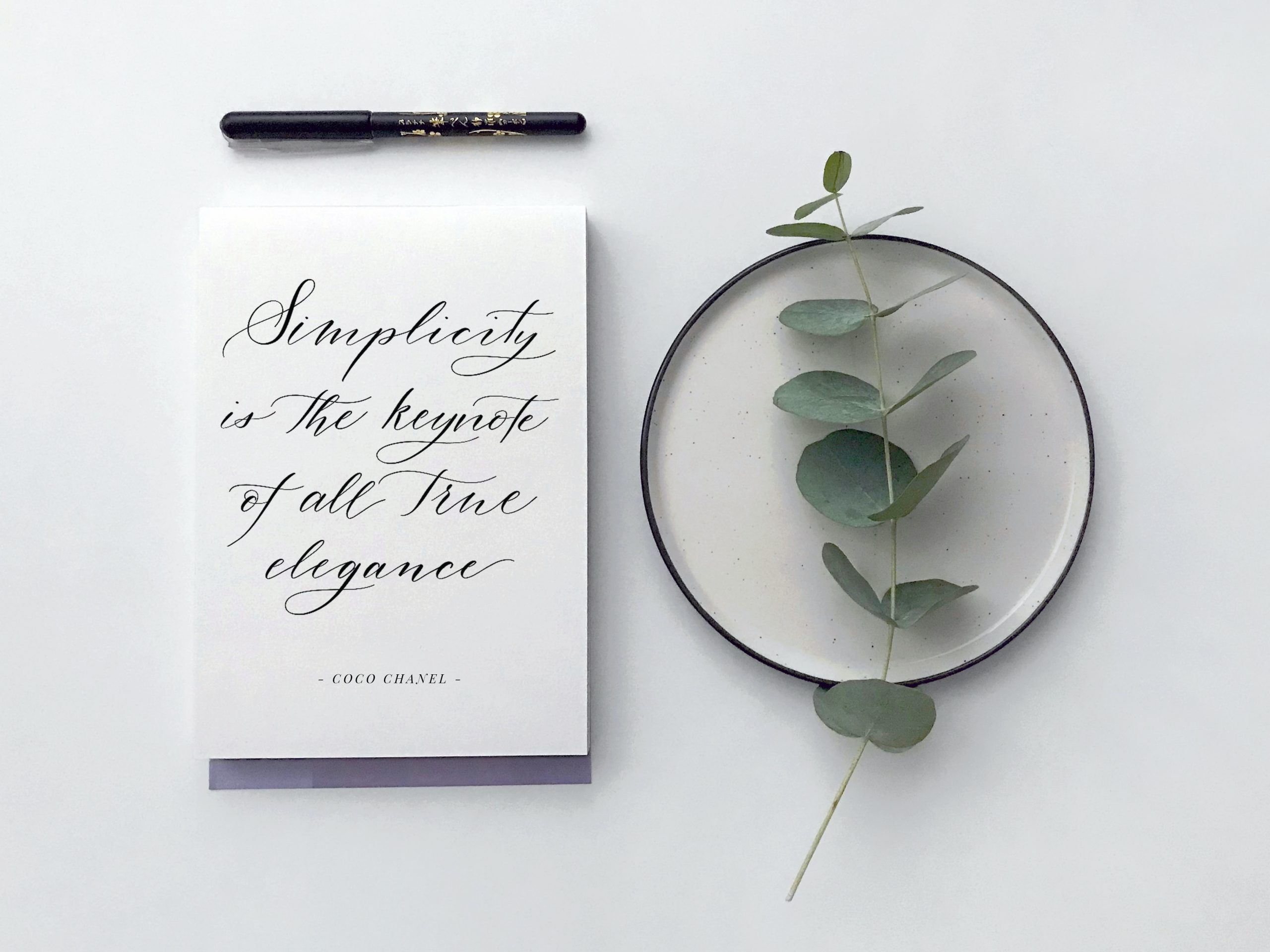 minimalist wedding stationary ideas